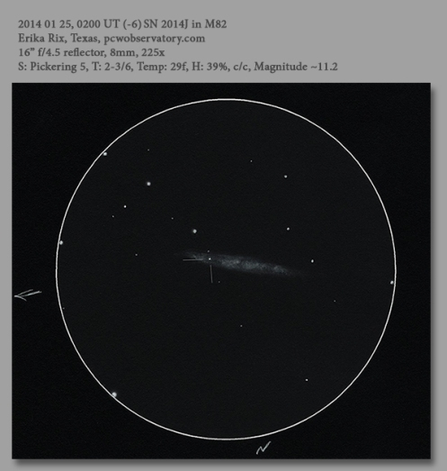 20140125 SN 2014J in M82