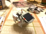 Space Dog with the solar panel